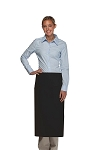 OVERSTOCK 120-2I Professional BLACK Double Inset Pocket Full Length Bistro Apron
