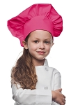 Style 850HP Professional Kids Chef Hat -- Hot Pink