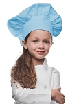 Style 850LB Professional Kids Chef Hat -- Light Blue