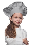 Style 850SIL Professional Kids Chef Hat -- Silver Gray