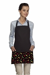 Style CP200 Chili Pepper Three Pocket Bib Apron