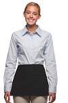 Style 100R Professional Three Pocket Reversible Waist Aprons - Black