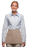Style 100R Professional Three Pocket Reversible Waist Aprons - Khaki