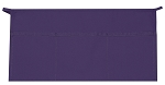 Style 100XW Extra Wide Professional Three Pocket Waist Aprons - Purple