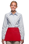 Style 100R Professional Three Pocket Reversible Waist Aprons - Red