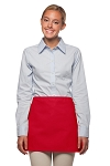 Style: 100NP Professional No Pocket Waist Apron - Red