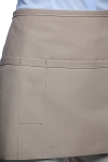 Style 100PD Professional Three Pocket Waist Apron w/ Pencil Divide - Khaki