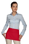 Style 105 Professional Two Pocket Waist Aprons - Red