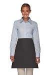 Style 110I Professional Half Bistro Apron with Inset Pocket - Charcoal Gray