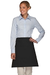 Style 113 Professional Three Pocket Half Bistro Apron - Black