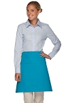 Style 113 Professional Three Pocket Half Bistro Apron - Turquoise