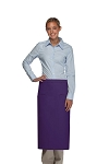 Style 120-2I Professional Double Inset Pocket Full Length Bistro Apron - Purple