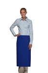 Daystar 120-2I Professional Double Inset Pocket Full Length Bistro Apron - Royal Blue
