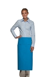 Style 120-2I Professional Double Inset Pocket Full Length Bistro Apron - Turquoise