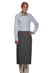 Style 122 Professional Two Pocket Full Length Bistro Apron - Charcoal Gray