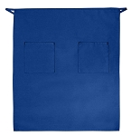 Style 122 Professional Two Pocket Full Length Bistro Apron - Cobalt