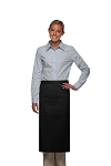 Style 123 Professional Three Pocket Full Length Bistro Apron - Black