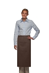 Daystar 123 Professional Three Pocket Full Length Bistro Apron - Brown