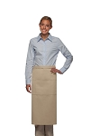 Style 123 Professional Three Pocket Full Length Bistro Apron - Khaki
