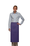 Style 123 Professional Three Pocket Full Length Bistro Apron - Purple