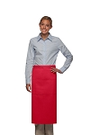 Style 123 Professional Three Pocket Full Length Bistro Apron - Red