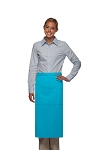 Style 123 Professional Three Pocket Full Length Bistro Apron - Turquoise