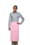 Daystar 123 Professional Three Pocket Full Length Bistro Apron - Pink