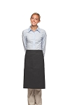 Style 124 Professional Two Large Pocket 3/4 Bistro Apron - Charcoal Gray