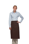Daystar 128 Professional Full Bistro Apron with center divided pocket - Brown