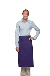 Style 128 Professional Full Bistro Apron with center divided pocket - Purple