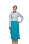Style 128 Professional Full Bistro Apron with center divided pocket - Turquoise