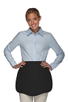 Style 130R Professional Two Pocket Reversible Scalloped Waist Apron - Black