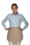 Style 130R Professional Two Pocket Reversible Scalloped Waist Apron - Khaki