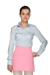Daystar 140R Professional Two Pocket Squared Reversible Waist Aprons - Pink