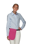 Style 152 Professional Money Pouch Aprons with Attached Belt - Hot Pink
