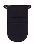 Style 152 Professional Money Pouch Aprons with Attached Belt - Black
