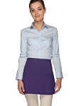 Style 180 Professional Three Pocket Rounded Waist Aprons - Purple