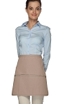 Style 180XL Professional Extra Large Three Pocket Rounded Waist Apron - Khaki