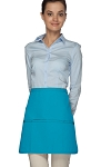 Style 180XL Professional Extra Large Three Pocket Rounded Waist Apron - Turquoise