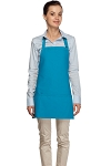 Style 200 High Quality Professional Three Pocket Bib Aprons - Turquoise