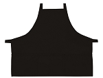 Style 200XX High Quality Professional Three Pocket Criss Cross Bib Aprons - Black