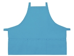 Style 200XX High Quality Professional Three Pocket Criss Cross Bib Aprons - Turquoise