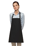 Style 200NP High Quality Professional No Pocket Bib Aprons - Black