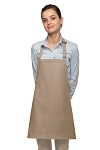 Style 200NP High Quality Professional No Pocket Bib Aprons - Khaki