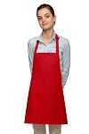 Style 200NP High Quality Professional No Pocket Bib Aprons - Red