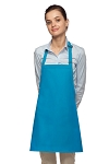 Style 200NP High Quality Professional No Pocket Bib Aprons - Turquoise