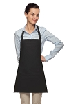 Style 200PD High Quality Professional Three Pocket Bib Aprons w/ Pencil Divide - Black