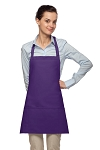 Style 200PD High Quality Professional Three Pocket Bib Aprons w/ Pencil Divide - Purple