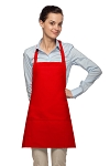 Style 200PD High Quality Professional Three Pocket Bib Aprons w/ Pencil Divide - Red