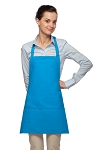 Style 200PD High Quality Professional Three Pocket Bib Aprons w/ Pencil Divide - Turquoise
